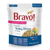 Bravo! Homestyle Complete Turkey Dinner Freeze-Dried Dog Food, 6 lb