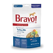Bravo! Training Treats Turkey Bites Freeze-Dried Dog Treats, 2.5-oz Bag