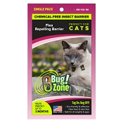 Bug Zone Flea Insect Barrier Chemical-Free Repellent for Cats, Single Tag