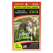 Bug Zone Flea & Tick Insect Barrier Chemical-Free Repellent for Cats, Double Pack