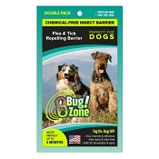 Bug Zone Flea & Tick Insect Barrier Chemical-Free Repellent for Dogs, Double Pack