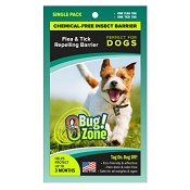 Bug Zone Flea & Tick Insect Barrier Chemical-Free Repellent for Dogs, Single