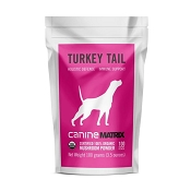 Canine Matrix Turkey Tail Mushroom Organic Supplement for Dogs, 100 Grams