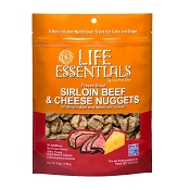 Cat Man Doo Life Essentials Freeze-Dried Sirloin Beef with Cheese Nuggets Cat & Dog Treats, 6-oz Bag