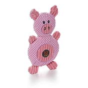 Charming Pet Ani-Mates Pig Stuffing-Free Dog Toy