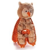 Charming Pet Cuddle Tugs Optimistic Owl Dog Toy