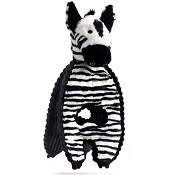 Charming Pet Cuddle Tugs Ziggy Zebra Dog Toy