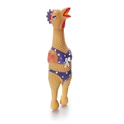 Charming Pet Products Henrietta the Squawking Chicken Dog Toy, Large