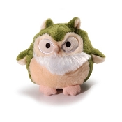 Charming Pet Barkers Howling Hooters Green Owl Dog Toy