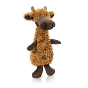 Charming Pet Scruffles Moose Dog Toy, Small