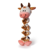Charming Pet Zig Zaggers Cow Dog Toy