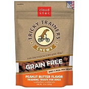 Cloud Star Tricky Trainers Chewy Grain Free Peanut Butter Flavor Dog Treats, 12-oz Bag