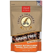 Cloud Star Tricky Trainers Chewy Grain Free Liver Flavor Dog Treats, 5-oz Bag