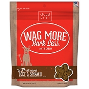 Cloud Star Wag More Bark Less Soft & Chewy with Beef & Spinach Dog Treats, 6-oz bag