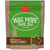Cloud Star Wag More Bark Less Soft & Chewy with Chicken & Carrots Dog Treats, 6-oz bag