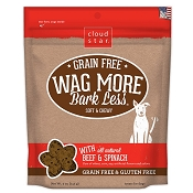 Cloud Star Wag More Bark Less Grain-Free Soft & Chewy with Beef & Spinach Dog Treats