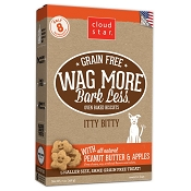 Cloud Star Wag More Bark Less Grain-Free Itty Bitty Oven Baked with Peanut Butter & Apples Dog Treat, 7-oz bag