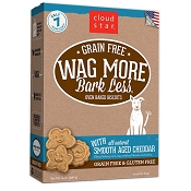 Cloud Star Wag More Bark Less Grain-Free Oven Baked Smooth Aged Cheddar Dog Treats, 14-oz box