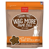 Cloud Star Wag More Bark Less Grain-Free Soft & Chewy with Peanut Butter & Apples Dog Treats