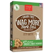 Cloud Star Wag More Bark Less Grain-Free Itty Bitty Oven Baked with Chicken & Sweet Potatoes Dog Treats, 7-oz bag