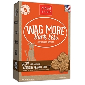 Cloud Star Wag More Bark Less Oven Baked Crunchy Peanut Butter Dog Treats, 16-oz box