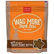 Cloud Star Wag More Bark Less Soft & Chewy Creamy Peanut Butter Dog Treats, 6-oz bag