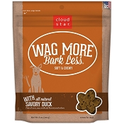 Cloud Star Wag More Bark Less Soft & Chewy with Savory Duck Dog Treats, 6-oz bag