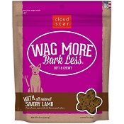 Cloud Star Wag More Bark Less Soft & Chewy Savory Lamb Dog Treats, 6-oz bag