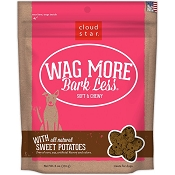 Cloud Star Wag More Bark Less Soft & Chewy with Sweet Potatoes Dog Treats, 6-oz bag