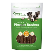 Crump's Naturals Bacon Style Plaque Busters Dental Dog Treats, 4.5