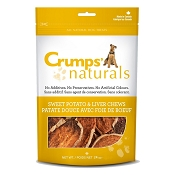 Crumps Naturals Sweet Potato Treats for Dogs with Liver Coating, 24-oz Bag