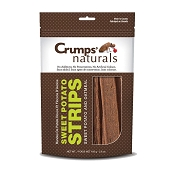 Crump's Naturals Sweet Potato Strips with Oatmeal Dog Treats, 5.6-oz Bag
