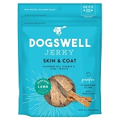 Dogswell Skin & Coat Lamb Recipe Jerky Dog Treats, 10-oz Bag
