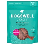 Dogswell Skin & Coat Salmon Recipe Jerky Dog Treats, 10-oz Bag