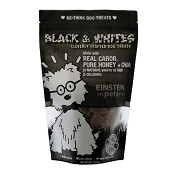 Einstein Pets Black & Whites Recipe with Carob, Honey & Chia Dog Treats, 8-oz Bag