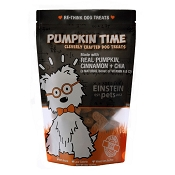 Einstein Pets Pumpkin Time with Chia Recipe Dog Treats, 8-oz Bag
