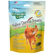 Emerald Pet Feline Dental Treats Turducky Recipe Cat Treats, 3-oz bag