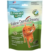 Emerald Pet Feline Dental Treats with Catnip Cat Treats, 3-oz bag