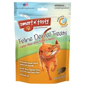 Emerald Pet Feline Dental Treats with Chicken Cat Treats, 3-oz bag