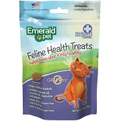 Emerald Pet Feline Health Treats Hairball Control Cat Treats, 2.5-oz bag