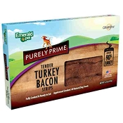 Emerald Pet Purely Prime Tender Turkey Bacon Strips Dog Treats