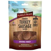 Emerald Pet Purely Prime Tender Turkey Sausage Slices Dog Treats