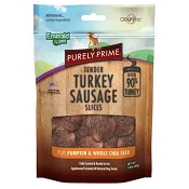 Emerald Pet Purely Prime Tender Turkey Sausage Slices with Pumpkin & Chia Dog Treats