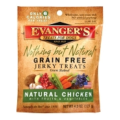 Evanger's Nothing But Natural Organic Chicken with Fruits & Vegetables Grain-Free Jerky Dog Treats