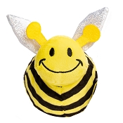 fabdog® Faball Bumble Bee Plush Squeaker Dog Toy, Medium