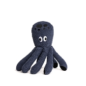 fabdog® Floppy Blue Octopus Plush Squeaker Dog Toy, Small