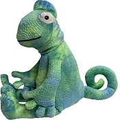 fabdog® Floppy Chameleon Plush Squeaker Dog Toy, Large