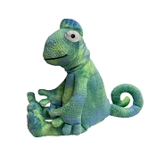 fabdog® Floppy Chameleon Plush Squeaker Dog Toy, Small