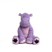 fabdog® Floppy Hippo Plush Squeaker Dog Toy, Small