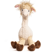 fabdog® Floppy Llama Plush Squeaker Dog Toy, Extra Large